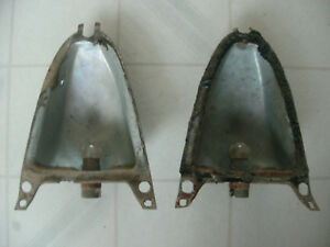 1957 Buick upper inner tail light bulb housings need to be cleaned up