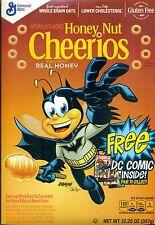 General Mills Honey Nut Cheerios Free DC Comic Promo Batman JLA Empty Box Flat