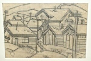 Charles Ragland Bunnell Study of Mountain Town