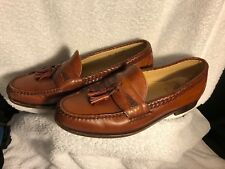 ALLEN EDMONDS MAXFIELD BROWN LEATHER TASSELED LOAFERS DRESS SHOES MENS SZ 11 D