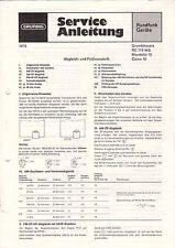 GRUNDIG Reparaturhelfer - RC 710 MS Mandello 10 - Anleitung Schaltbild - B3281