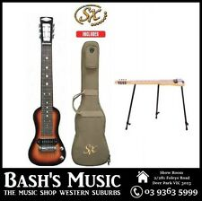 SX Ash Series 6 String Lap Steel Guitar + Bag + Stand 3 Tone Sunburst Gloss