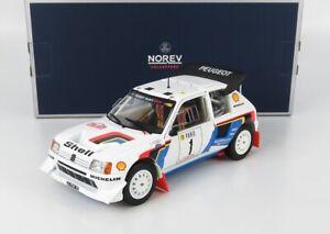 PEUGEOT 205 T16 #1 T.Salonen Rallye Monte Carlo 1986 - 1:18 - NOREV
