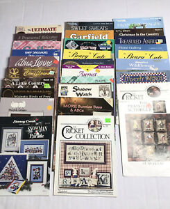 Cross Stitch Leaflet Chart Lot of 31 Mill Hill Prairie Schooler Christmas More