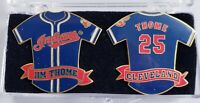 JIM THOME #25 Jersey Lapel Pins (2) Set CLEVELAND INDIANS Hall Of Fame MLB MINT!