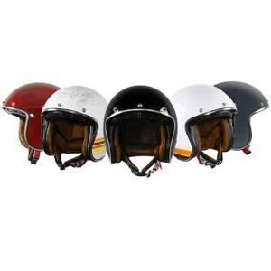 3/4 Open Face Scooter Helmet DOT Sun Visor Vintage Retro Cafe Racer M L XL XXL