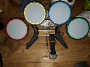 XBox 360 Rock Band Wired Drum Kit Set Drums Pedal Stand ***see photos***