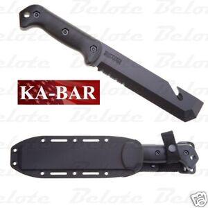 Ka-Bar KaBar Knives Becker Tac Tool Fixed Blade Serrated W/Sheath BK3 0003 NEW