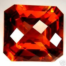 26,31 ct  Madeira (Orange-Red) Citrine - Octagonal Checkerboard - VVS - Brazil