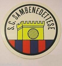 ADESIVO ORIGINALE anni '80 _ S.C. SAMBENEDETTESE Calcio (cm 9) Sticker Vintage