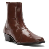 Stacy Adams Mens Boot Santos Cognac Leather Cuban Heel  24855-221