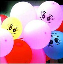 100pcs Printing Smiling Face latex balloons Wedding Party Birthday Decoration