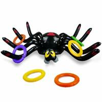 Halloween Inflatable Spider Ring Toss Game with 8 PCS Rings for Kids Party Favor