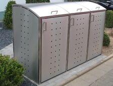 Mülltonnenbox ALICE INOX 3/240 L...