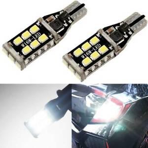 2PCS T15 921 912 W16W LED Backup Reverse Light Bulbs No Error Canbus 6000K White