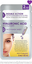 Skin Republic TWO STEP Hyaluronic Acid + Collagen Face Scrub and Face Mask