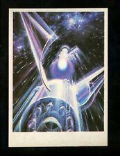 Space postcard Russian Concept Art Artist Sokolov 1978 chrome orbit to Venus