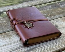 Vintage Classic Brown Leather Journal Travel Notepad Notebook Diary
