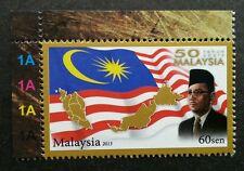50 Years Malaysia 2013 Prime Minister Tunku Abd Rahman Flag (stamp plate) MNH