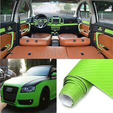 20″ x 79″ 3D Carbon Fiber Vinyl Car DIY Wrap Sheet Roll Film Sticker Decal US