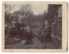 Victorian Family in the Garden Antique Photograph c1900 by Simpson of Marlesford