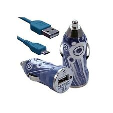 Chargeur voiture allume cigare USB motif CV07 pour HTC One M8