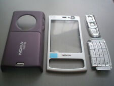 New nokia  n95  8gb cover  keypad housing fascia set silver purple colour