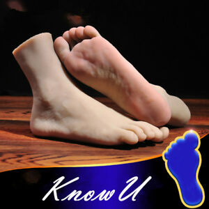 One Left Or Right Lifelike Silicone Men Feet Legs Mannequin Male Display Model