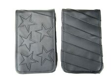 Sunfish Leather Golf Scorecard Yardage Book Holder USA Flag Murdered Out Black