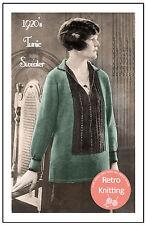 1920s Tunic Sweater Knitting Pattern - Copy