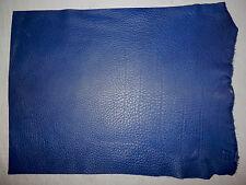 "Dark Blue Deer Hide Leather Scraps 12.5""x15"" avg 1.4mm thick #4968"