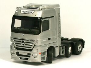 RARE MERCEDES ACTROS MP3 V8 2558 6x2 UNIT SILVER 1:50 TEKNO (DEALER MODEL)
