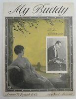 """SHEET MUSIC """" MY BUDDY """" DATED 1922"""