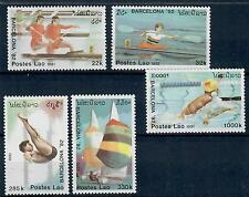 (W0957) LAOS 1991, OLYMPIC SUMMER GAMES, MI 1245/49, MNH/UM, SEE SCAN