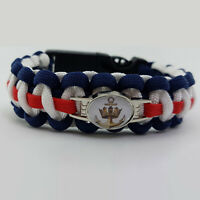 Royal Navy Badged Survival Bracelet Tactical Edge Wristband Gift