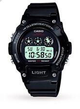 Casio Para Hombre Deportivos Alarma Cronógrafo Reloj Negro (* Totalmente Nuevo En Caja *)