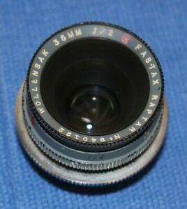Wollensak Fastax-Raptar 35mm F2.0 Vintage Military Lens