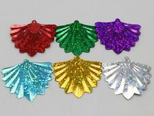175 Mixed Color 34mm Large Fan Shape Loose sequins Paillettes Top Hole Sewing We