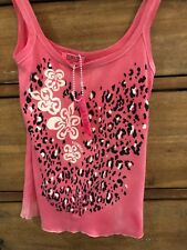 FIORUCCI SAFETY JEANS TANK CAMISOLE TOP WOMENS  M 100% COTTON ITALY BNWT