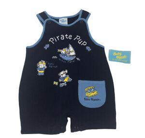 Oshkosh Baby Bgosh Boys One Piece Pirate Pup Outfit Romper 3-6 Month Blue Pocket