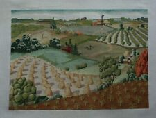 Farms Farmland Fields Trees Crops Country Cross Stitch Completed Finished