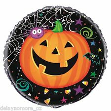 "Halloween Spider Pumpkin Bat Foil Balloon 18"" Helium Spooky Scary Party Supplies"