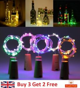 Wine Bottle Fairy String Lights Battery Cork Shaped Xmas Wedding Party 2M 20LED