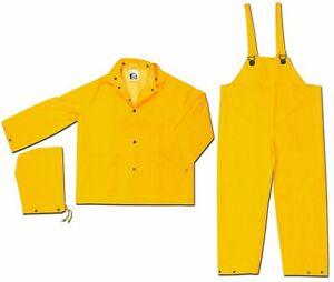 MCR Safety 2003X5 Classic PVC/Polyester 3-Piece Rainsuit, 5X-Large
