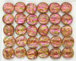 Lot 30 pcs square gorgeous DICHROIC earrings bracelet FUSED GLASS (G9) CABOCHON