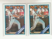 GARY CARTER 1988 Topps #530 Error Variation Blue Purple Name Banner Mets HOF