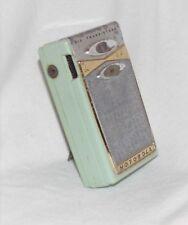 Vintage 1959 MOTOROLA GREEN X11G Kickstand Transistor Radio w/case JAPAN-Toshiba