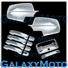 14-15 Chevy Silverado Chrome Full Mirror+4 Door Handle+Tailgate+Camera Hol Cover