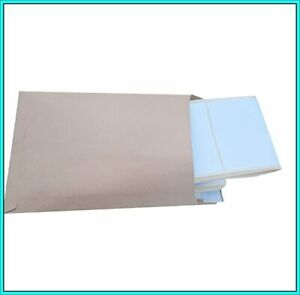 """100 Large Self Adhesive Labels 6X4"""" Address,Parcel,Food,Freezer,PERFORATED."""