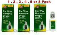 Ear Wax Removal Drops Dr Sheffield's 0.5 oz ( 1/2/3/4/5/8 Pack ) Made in USA
